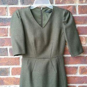 Antonio Melani green herringbone dress